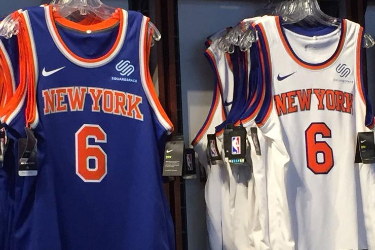 Here are the Knicks' new ad-affixed jerseys