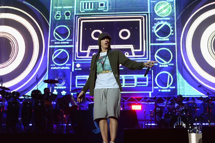 Eminem at Lollapalooza 2014