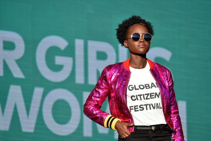 Lupita at the 2017 Global Citizen Festival
