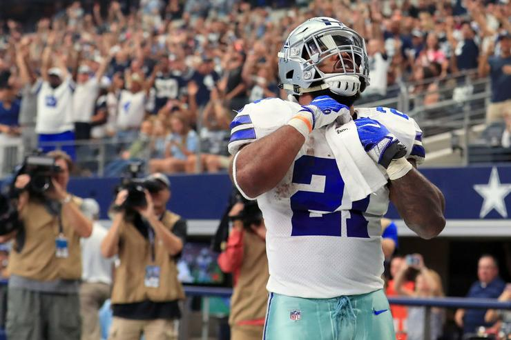 Ezekiel Elliott and National Football League both denying any knowledge of settlement talks