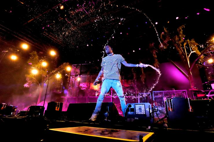 Recording artist Travis Scott performs at the Outdoor Stage during day 1 of the Coachella Valley Music And Arts Festival (Weekend 1) at the Empire Polo Club on April 14, 2017
