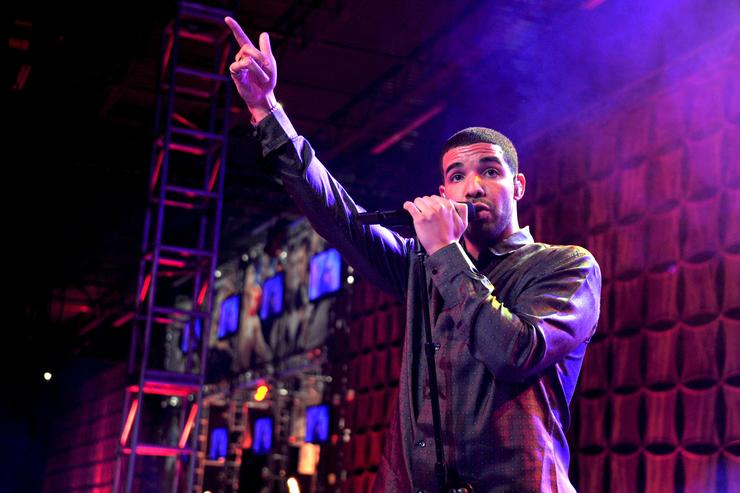Rapper Drake performs at ESPN The Magazine's 'NEXT' Event on February 3, 2012 in Indianapolis, Indiana.