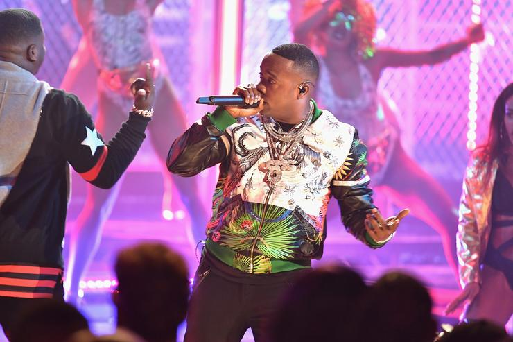 Yo Gotti performs onstage during the BET Hip Hop Awards 2017 at The Fillmore Miami Beach at the Jackie Gleason Theater on October 6, 2017 in Miami Beach, Florida