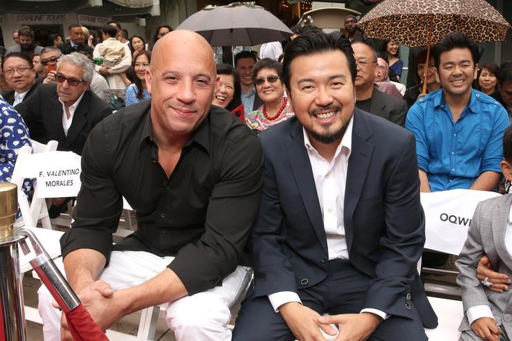 Vin Diesel and Justin Lin attend the 88th Birthday Of TLC Chinese Theater IMAX, Honoring Justin Lin, Zhao Wei And Huang Xiaoming with Iconic Imprint Ceremony' at TCL Chinese Theatre on June 3, 2015 in Hollywood, California