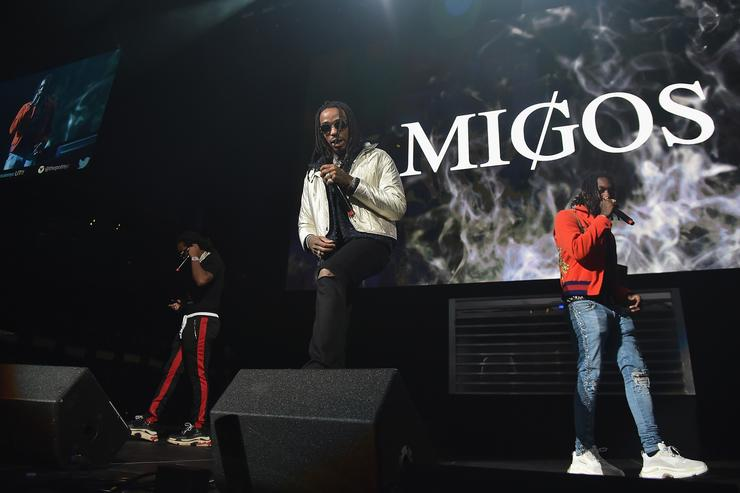 Cardi B & Nicki Minaj Connect With Migos On