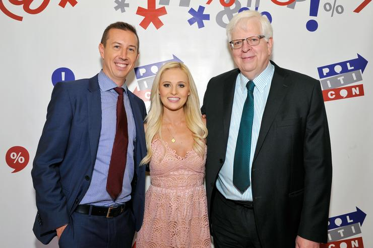 John Phillips, Tomi Lahren, and Dennis Prager at Politicon at Pasadena Convention Center on July 30, 2017 in Pasadena, California.