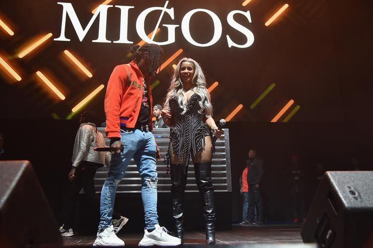 Offset of Migos and Cardi B perform onstage during 105.1's Powerhouse 2017 at the Barclays Center on October 26, 2017 in the Brooklyn, New York City City