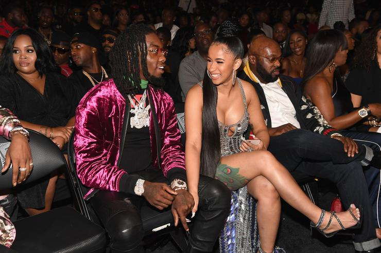 Rappers Offset of Migos and Cardi B attend the BET Hip Hop Awards 2017 at The Fillmore Miami Beach at the Jackie Gleason Theater on October 6, 2017 in Miami Beach, Florida