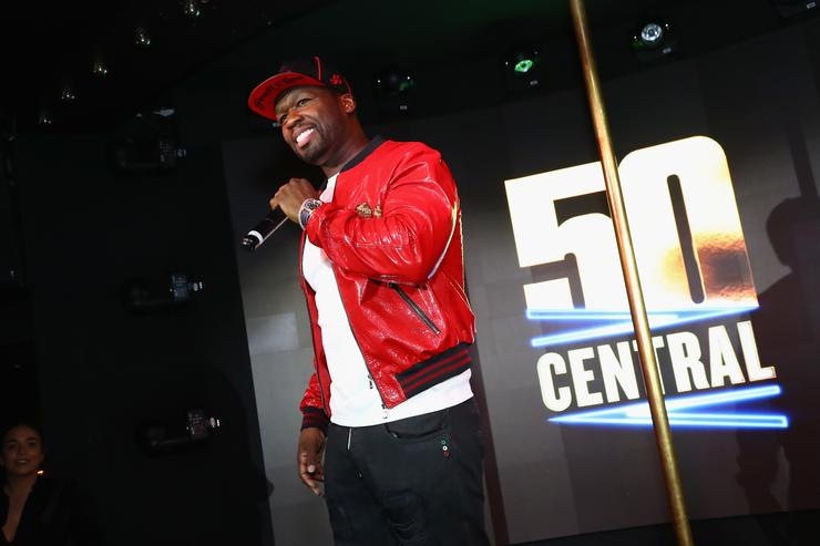 50 Cent at 50 Central premiere party