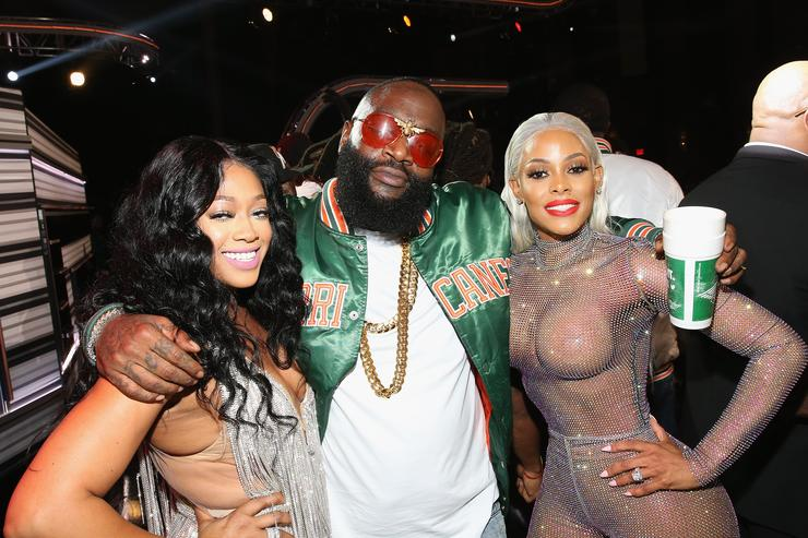 Trina, Rick Ross, and Keyshia Ka'oir attend the BET Hip Hop Awards 2017 at The Fillmore Miami Beach at the Jackie Gleason Theater on October 6, 2017 in Miami Beach, Florida