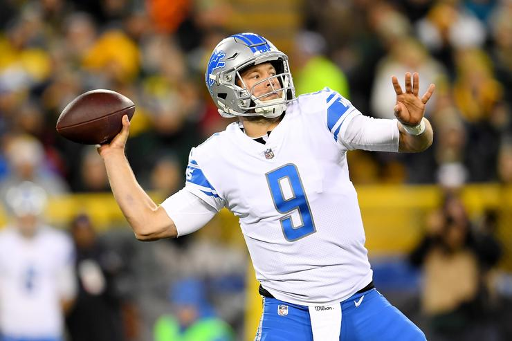 Matthew Stafford at Lambeau Field