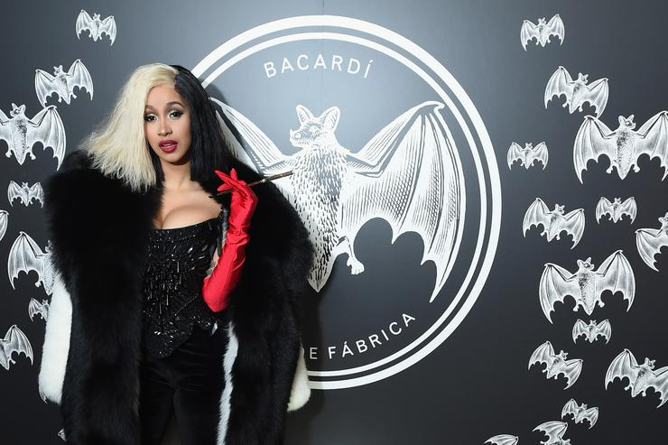 Cardi B attends BACARDI presents Dress To Be Free with performances by Cardi B and Les Twins at House of Yes on October 30, 2017 in New York City