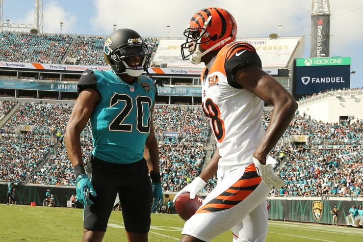 National Football League  fines AJ Green for antics against Jaguars