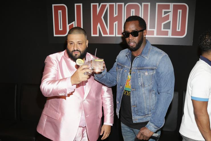 Diddy & DJ Khaled at press conference