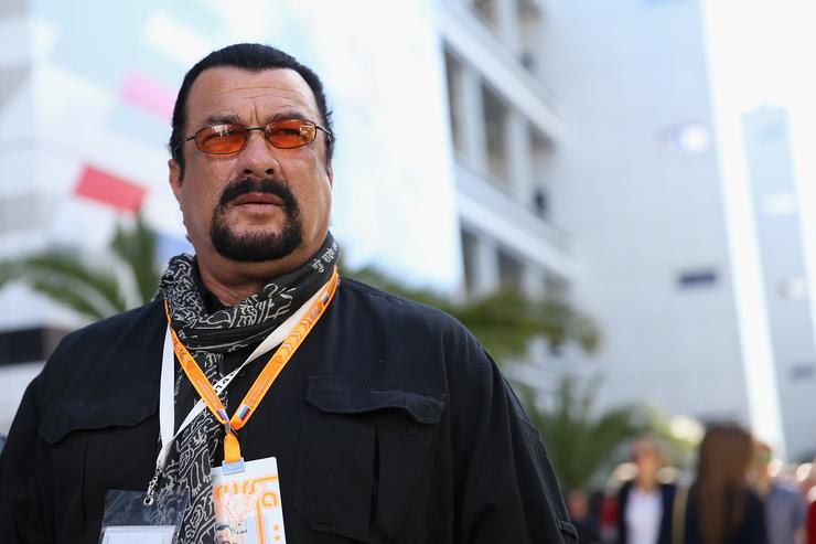 Steven Seagal at Russian Grand Prixe