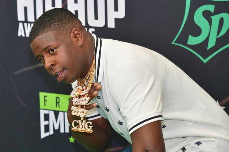 Blac Youngsta attends the BET Hip Hop Awards 2016 Green Carpet at Cobb Energy Performing Arts Center on September 17, 2016 in Atlanta, Georgia