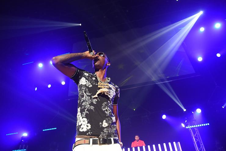 Rapper Young Dolph performs on stage at Gucci and Friends Homecoming Concert at Fox Theatre on July 22, 2016 in Atlanta, Georgia
