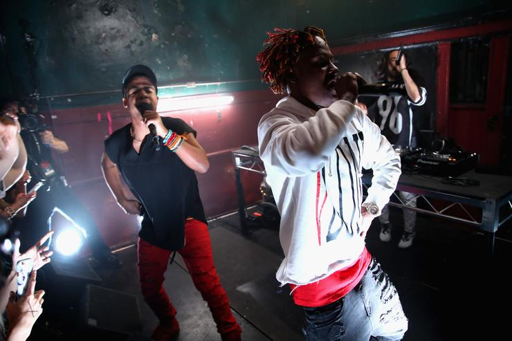 Hip-hop artist ILoveMakonnen (L) and musical artist Rich The Kid perform onstage during MTV's 'Wonderland' LIVE Show on October 13, 2016 in Los Angeles, California