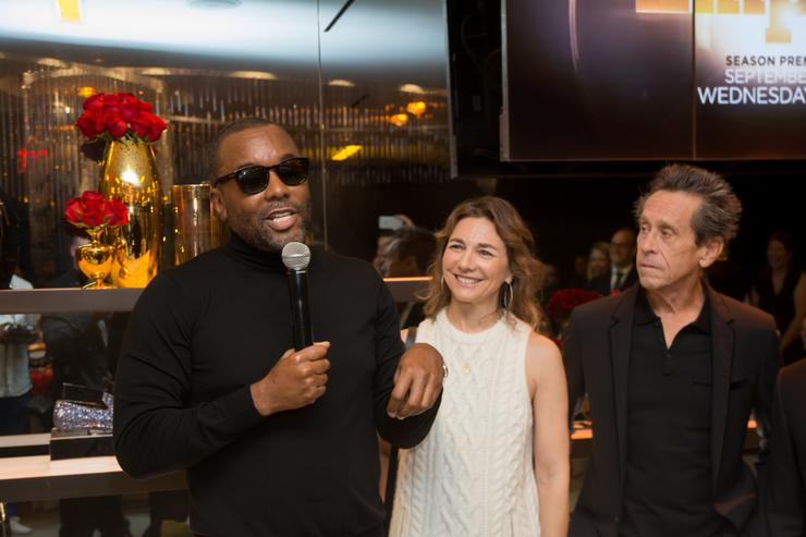 Executive Producers Lee Daniels, Ilene Chaiken and Brian Grazer attend Saks Fifth Avenue Empire Fashion Week Event on September 12, 2015 in New York City.