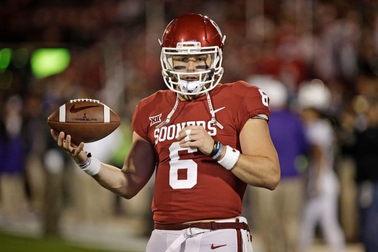 Big 12 issues public reprimands for Baker Mayfield, Kansas players