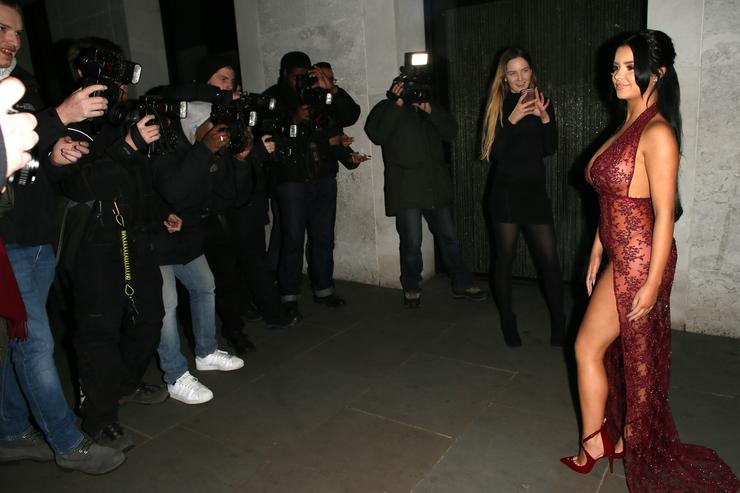 Demi Rose at Radio bar on December 6, 2016 in London, England