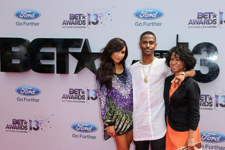 Actress Naya Rivera, rapper Big Sean and guest attend the 2013 BET Awards at Nokia Theatre L.A. Live on June 30, 2013 in Los Angeles, California