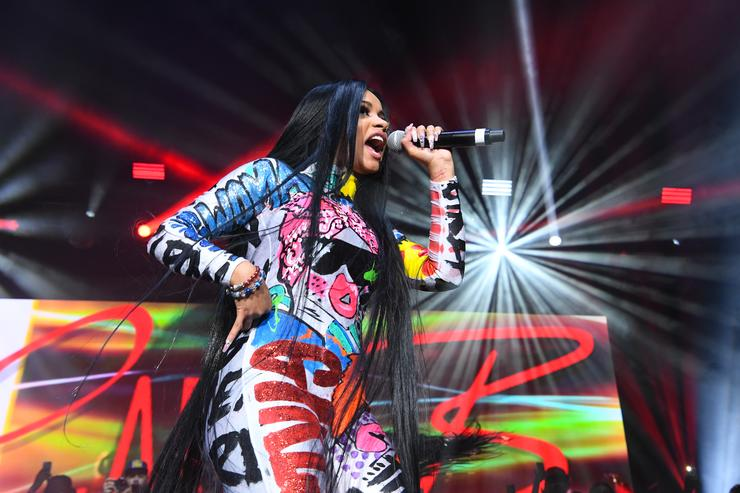 Rapper Cardi B performs onstage at Streetzfest 2K17 at Lakewood Amphitheatre on August 19, 2017 in Atlanta, Georgia