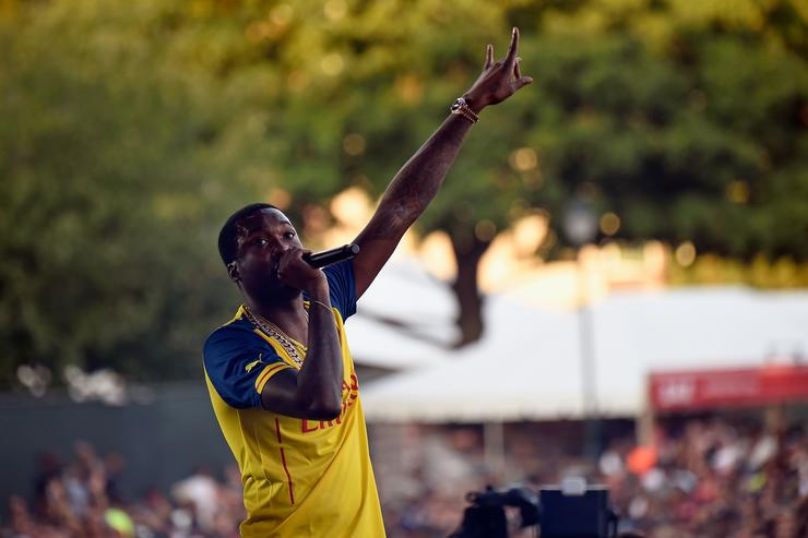 Meek Mill performs onstage during the 2015 Budweiser Made in America Festival at Benjamin Franklin Parkway on September 5, 2015 in Philadelphia, Pennsylvania