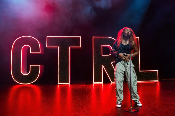 SZA performs in support of her CTRL tour at The Fillmore Detroit on August 30, 2017 in Detroit, Michigan