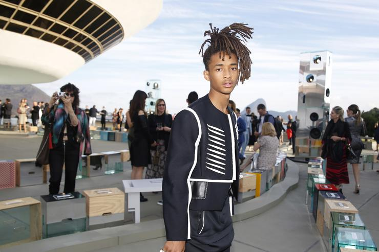 Jaden Smith attends Louis Vuitton 2017 Cruise Collection at MAC Niter on May 28, 2016 in Niteroi, Brazil