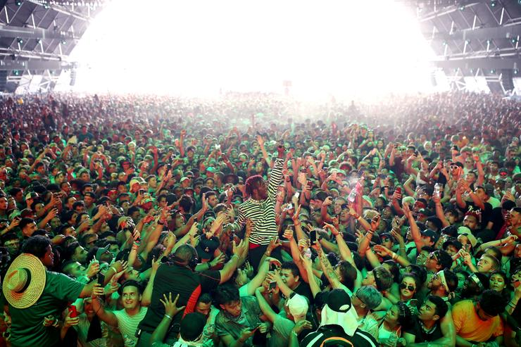 Lil Uzi Vert performs on the Sahara Stage during day 3 of the 2017 Coachella Valley Music & Arts Festival (Weekend 2) at the Empire Polo Club on April 23, 2017 in Indio, California