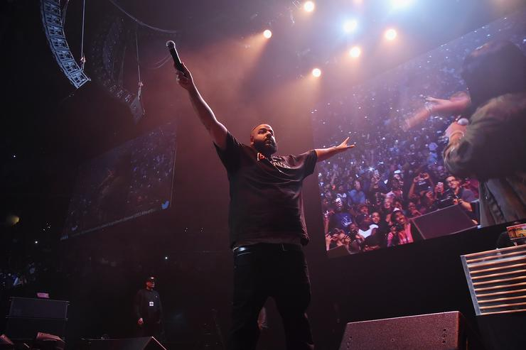 DJ Khaled performs onstage during Power 105.1's Powerhouse 2016 at Barclays Center on October 27, 2016 in New York City