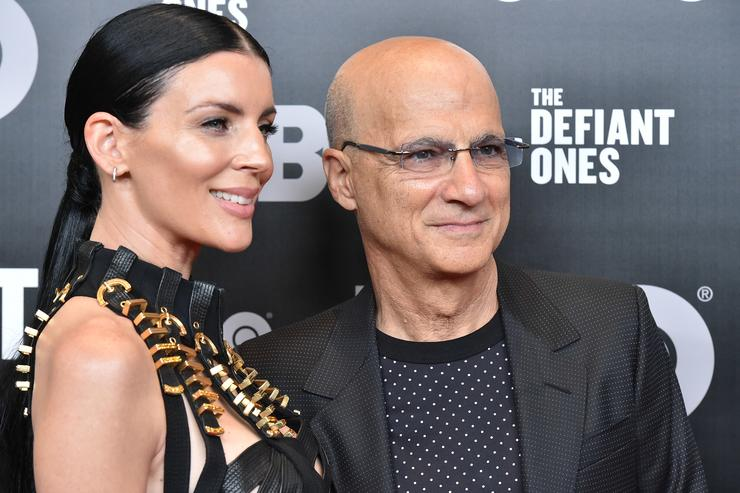 Liberty Ross and Jimmy Iovine attend 'The Defiant Ones' premiere at Time Warner Center on June 27, 2017 in New York City.