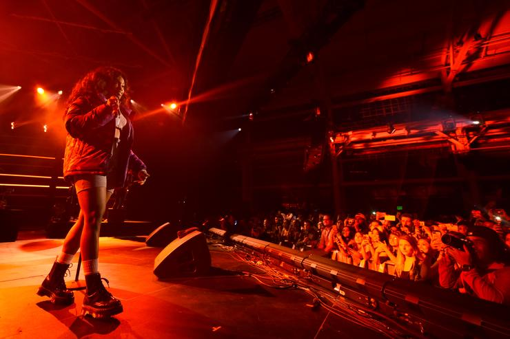 SZA performs onstage at Vevo Halloween 2017 at Craneway Pavilion on October 28, 2017 in Richmond, California