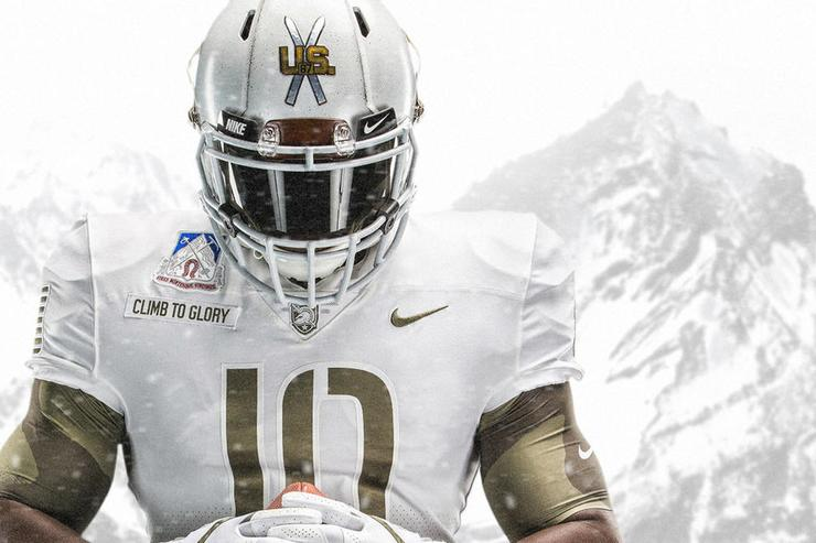 This year's Army-Navy game uniforms have somehow outdone last year's threads