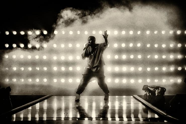 Recording artist Kanye West performs onstage at the 2015 iHeartRadio Music Festival at MGM Grand Garden Arena on September 18, 2015 in Las Vegas, Nevada