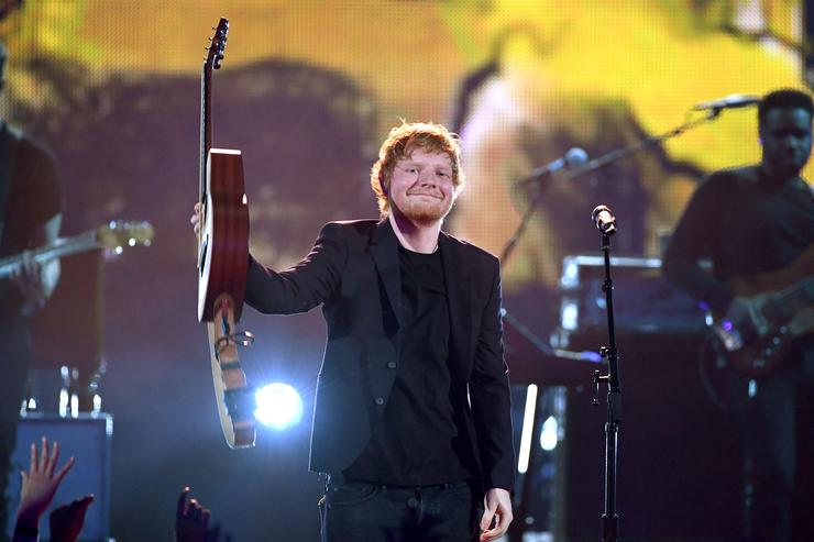 Singer Ed Sheeran performs onstage at the 2017 iHeartRadio Music Awards which broadcast live on Turner's TBS, TNT, and truTV at The Forum on March 5, 2017 in Inglewood, California