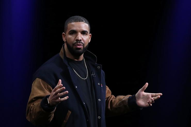 Recording artist Drake speaks about Apple Music during the Apple WWDC on June 8, 2015 in San Francisco, California. Apple annouced a new OS X, El Capitan, iOS 9 and Apple Music during the keynote at the annual developers conference that runs through June 12