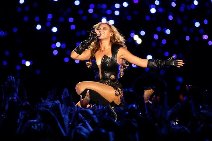 Singer Beyonce performs during the Pepsi Super Bowl XLVII Halftime Show at the Mercedes-Benz Superdome on February 3, 2013 in New Orleans, Louisiana