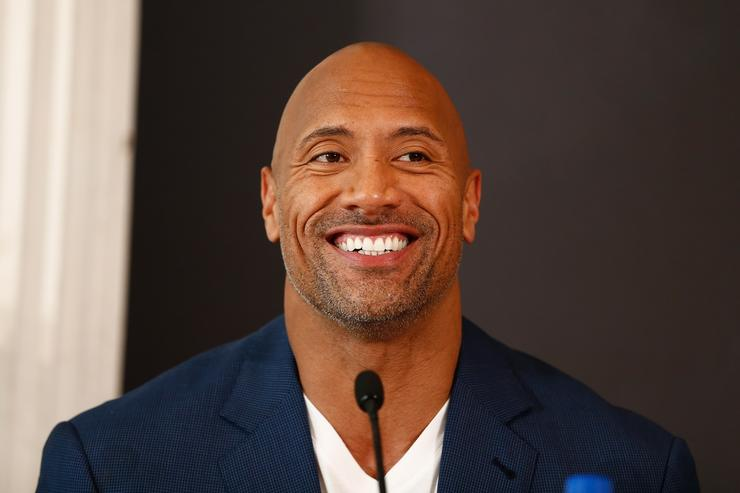 Actor Dwayne Johnson attends the press conference of Paramount Pictures 'HERCULES' at Hotel Adlon on August 21, 2014 in Berlin, Germany