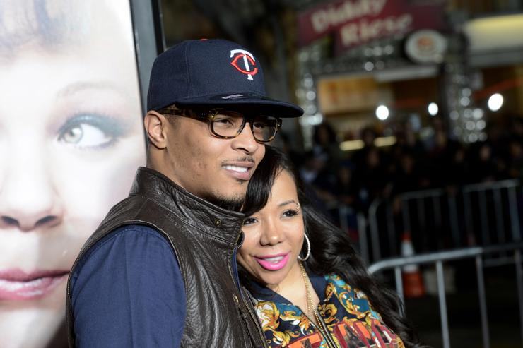 Actor/rapper T.I. (L) and his wife Tiny arrive at the premiere of Universal Pictures' 'Identity Thief' at the Village Theatre on February 4, 2013 in Los Angeles, California