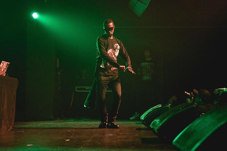 Rapper/producer Pi'erre Bourne performs in concert at Emo's on July 26, 2017 in Austin, Texas