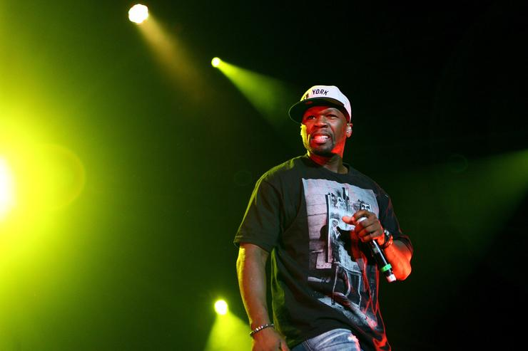 50 Cent performs on stage during the Winterbeatz Music Festival on August 19, 2011 in Sydney, Australia