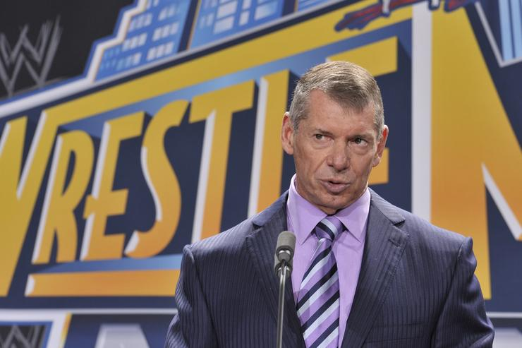 Vince McMahon attends a press conference to announce that WWE Wrestlemania 29 will be held at MetLife Stadium in 2013 at MetLife Stadium on February 16, 2012 in East Rutherford, New Jersey