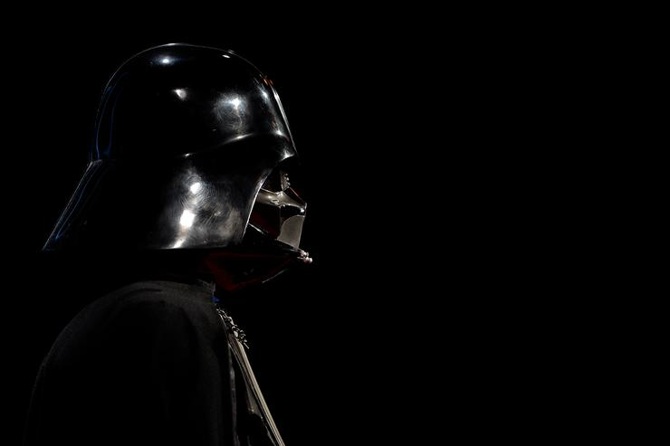 The first mock-up of the iconic Darth Vader helmet is seen during the 'Star Wars Identities' Exhibtion Press Preview & VIP Opening at Odysseum on May 20, 2015 in Cologne, Germany
