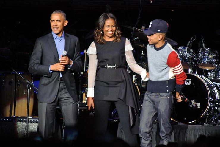 The Obamas & Chance The Rapper