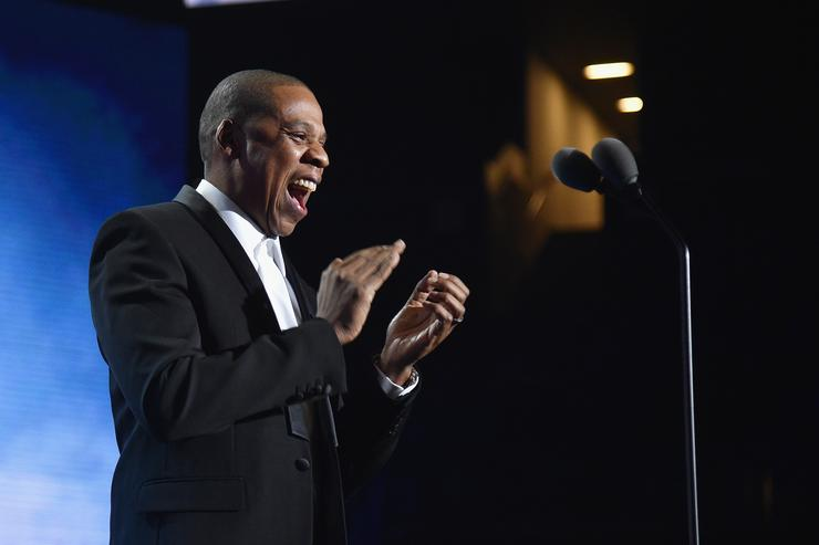 Jay Z speaks onstage during the Sports Illustrated Sportsperson of the Year Ceremony 2016 at Barclays Center of Brooklyn on December 12, 2016 in New York City