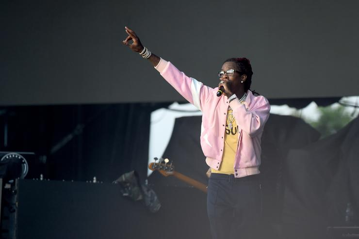 Young Thug performs onstage during the Meadows Music and Arts Festival - Day 2 at Citi Field on September 16, 2017 in New York City