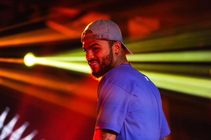 Dave East performs at Hennessy V.S Limited Edition by Scott Campbell Bottle Launch event at MAMA Gallery on July 14, 2016 in Los Angeles, California