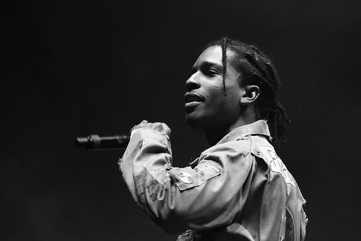 "Asap Rocky Black Ink Gallery: A$AP Rocky Previews New Song ""Gang"""